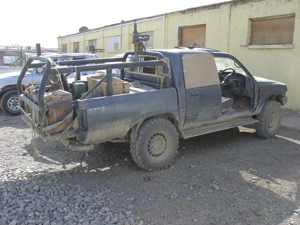 Military 4x4 Toyota hilux